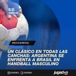Un clásico en todas las canchas: Argentina se enfrenta a Brasil en handball masculino